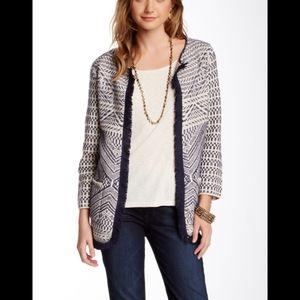 Lucky Brand Fringe Sweater Coat Cardigan